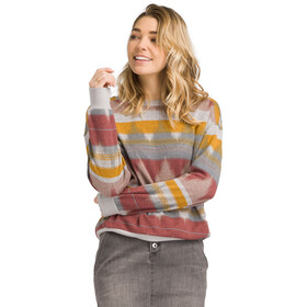 Prana Cozy Up Bedrucktes Sweatshirt Damen dark mauve eldorado